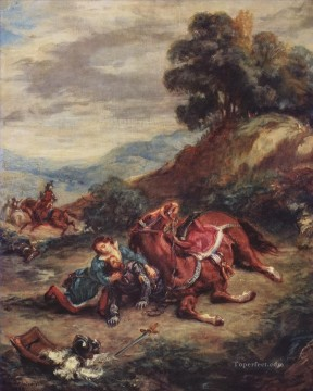 the death of laras 1858 Eugene Delacroix Oil Paintings