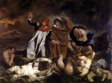 Romantic Painting - The Barque of Dante Romantic Eugene Delacroix