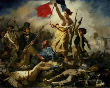 Eugene Delacroix Painting - Liberty Leading the People 28th July 1830 Romantic Eugene Delacroix