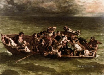Shipwreck of Don Juan Romantic Eugene Delacroix رسم زيتي
