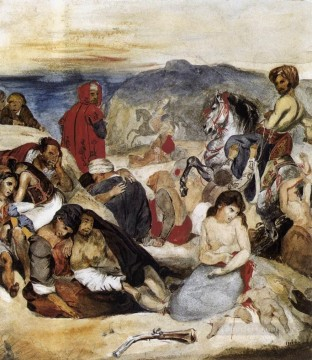 Romantic Painting - The Massacre of Chios Romantic Eugene Delacroix