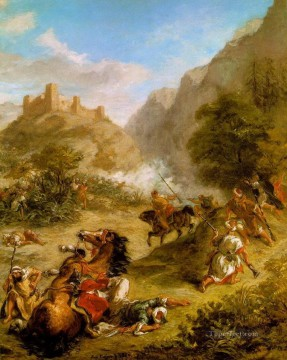 arabs skirmishing in the mountains 1863 Eugene Delacroix Oil Paintings