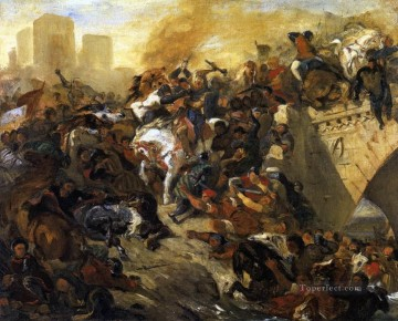 Battle Deco Art - The Battle of Taillebourg draft Romantic Eugene Delacroix