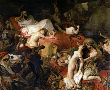The Death of Sardanapalus Romantic Eugene Delacroix Oil Paintings