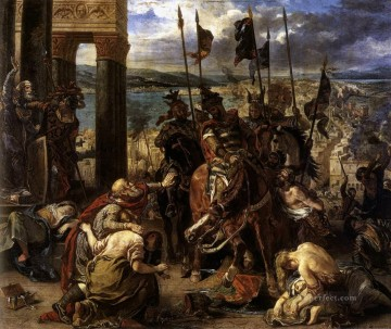 Entry Painting - The Entry of the Crusaders into Constantinople Romantic Eugene Delacroix