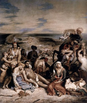The Massacre at Chios Romantic Eugene Delacroix Oil Paintings