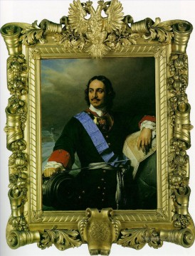 Peter Oil Painting - Peter the Great of Russia 1838 Hippolyte Delaroche