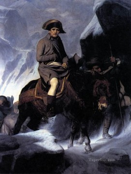 cross - Bonaparte Crossing the Alps histories Hippolyte Delaroche