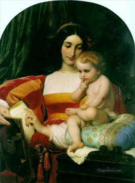 Della Painting - The Childhood of Pico della Mirandola 1842 histories Hippolyte Delaroche