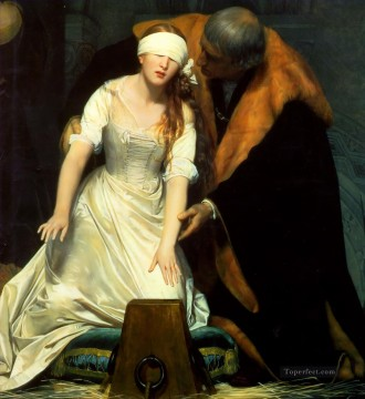 Jan Canvas - The Execution of Lady Jane Grey 1834centre histories Hippolyte Delaroche