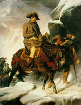 cross - napolean crossing the alps 1850 histories Hippolyte Delaroche