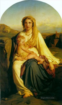 child Painting - virgin and child 1844 histories Hippolyte Delaroche