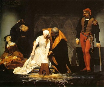 Jan Canvas - The Execution of Lady Jane Grey 1834 histories Hippolyte Delaroche