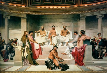 aux Painting - Hemicycle of the Ecole des BeauxArts 1814 centre life size histories Hippolyte Delaroche