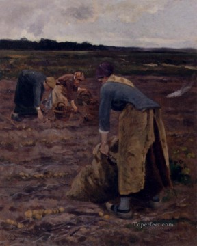 the Canvas - The Potato Gatherers Hippolyte Camille Delpy
