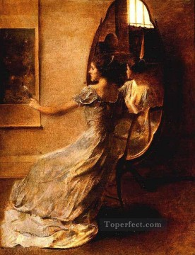 BeforeAMirror Tonalist Aestheticism Thomas Dewing Oil Paintings