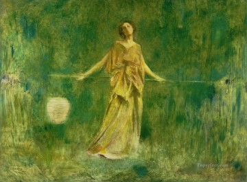 Dewing Canvas - Symphony in Green and Gold Thomas Dewing
