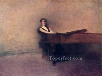 Dewing Canvas - ThePiano Tonalist Aestheticism Thomas Dewing