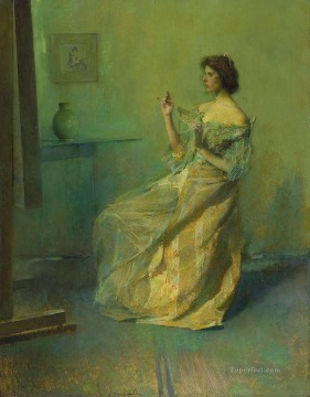 the necklace Aestheticism Thomas Dewing Oil Paintings