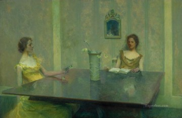 A Reading Thomas Dewing Oil Paintings