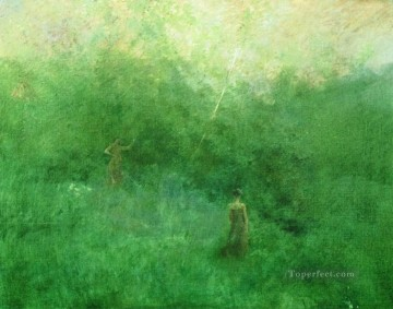 Dewing Canvas - Aestheticism Thomas Dewing