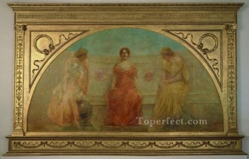 the Canvas - CommerceandAgricultureBringingWealthtoDetroit Tonalist Aestheticism Thomas Dewing