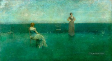 Dewing Canvas - The Recitation Tonalist Aestheticism Thomas Dewing