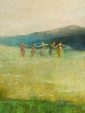 summer 1890 Thomas Dewing Oil Paintings