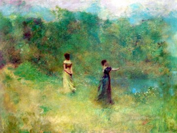 Dewing Canvas - summer Tonalist Aestheticism Thomas Dewing