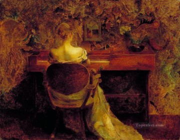 Dewing Canvas - the spinet Aestheticism Thomas Dewing