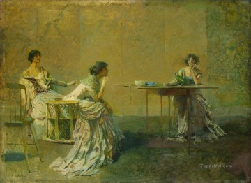 Dewing Canvas - The Gossip Thomas Dewing