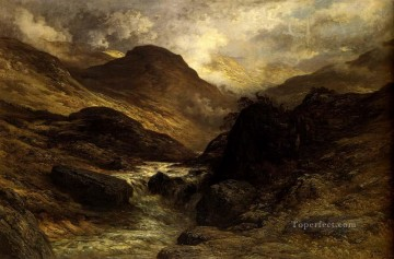 mountains Canvas - Gorge In The Mountains landscape Gustave Dore