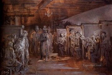 Tavern In Whitechapel Gustave Dore Oil Paintings