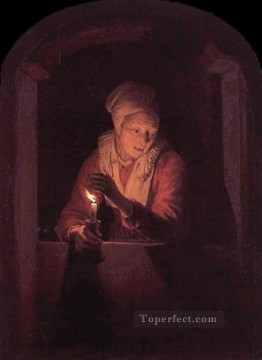 Candle Golden Age Gerrit Dou Oil Paintings