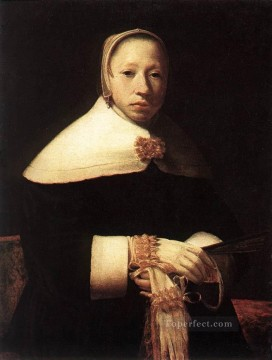 Woman Painting - Portrait of a Woman Golden Age Gerrit Dou
