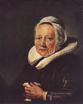 Woman Painting - Portrait of an Old Woman Golden Age Gerrit Dou