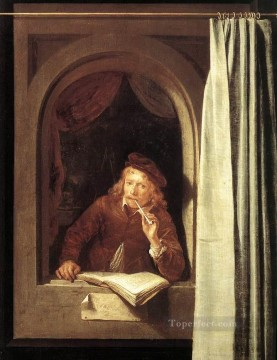 Self Painting - Self Portrait Golden Age Gerrit Dou