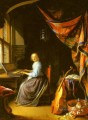 A Woman Playing A Clavichord Golden Age Gerrit Dou