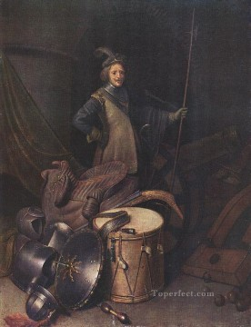 officer Oil Painting - Officer of the Marksman Society in Leiden1 Golden Age Gerrit Dou