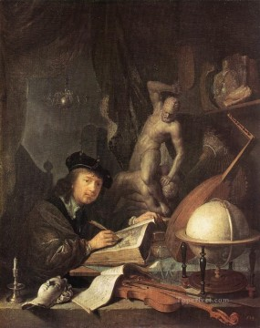 Painter in his Studio Golden Age Gerrit Dou Oil Paintings