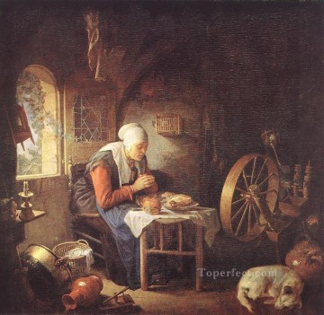 The Prayer of the Spinner Golden Age Gerrit Dou Oil Paintings