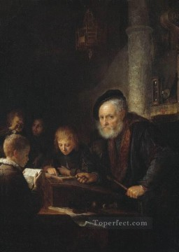 Teacher Golden Age Gerrit Dou Oil Paintings