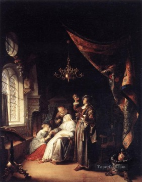 Woman Painting - The Dropsical Woman Golden Age Gerrit Dou