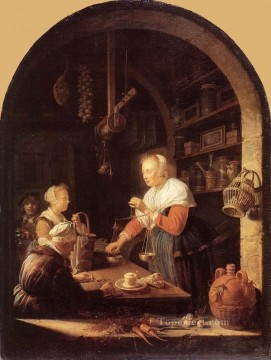 The Grocers Shop Golden Age Gerrit Dou Oil Paintings