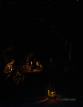 Night Art - The Night School Golden Age Gerrit Dou