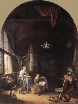 Mother Art - Young Mother Golden Age Gerrit Dou