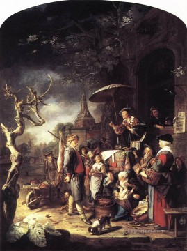 The Quack Golden Age Gerrit Dou Oil Paintings