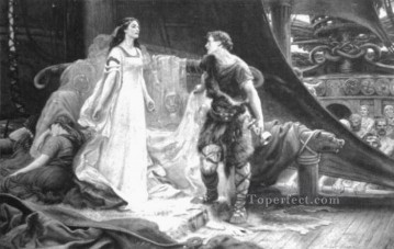 Draper Herbert James Painting - James Tristan and Isolde steel engraving Herbert James Draper