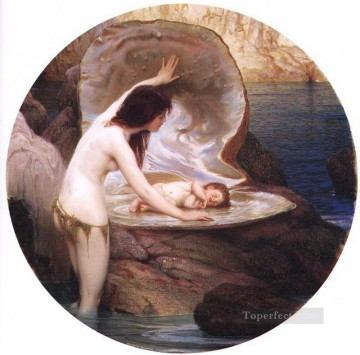 Draper Herbert James Painting - a Water baby Herbert James Draper