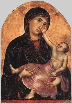 madonna Painting - Madonna and Child 2 Sienese School Duccio